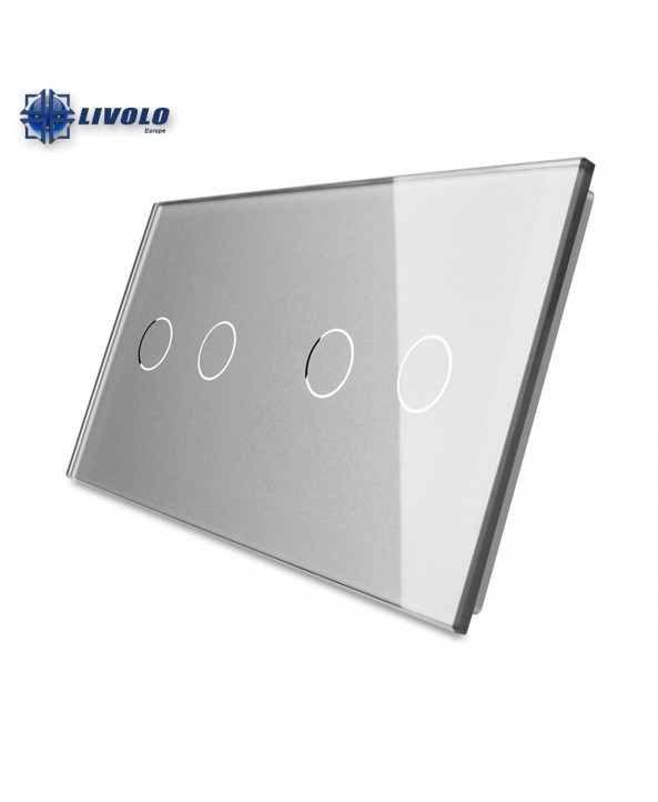 Livolo Double Crystal Panel 2-2